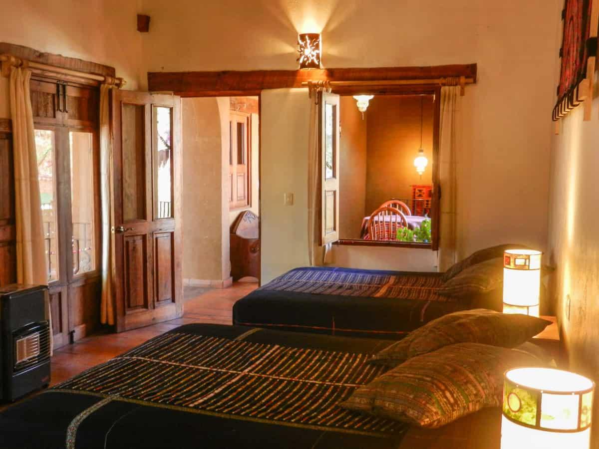 Hotel en Pátzcuaro Yolihuani Donaji camas queen size
