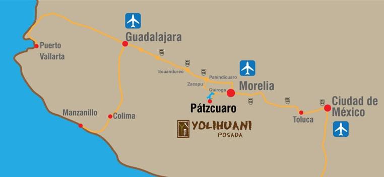 hotel patzcuaro mapa